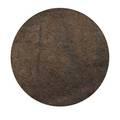 Deep pile rug circular roomsized ca 1970s unmarked 143 dia