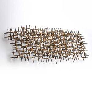 Harold collier confluence cut nail wall sculpture usa 1967 signed and dated 18 x 43 x 8