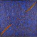 Kay walkingstick american b 1935 encaustic acrylic and ink on canvas  what has been is 1982 56 x 56 x 4 12