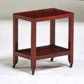 Karl springer occasional table new york 1980s polychromed wood brass unmarked 16 x 14 12 x 9 12