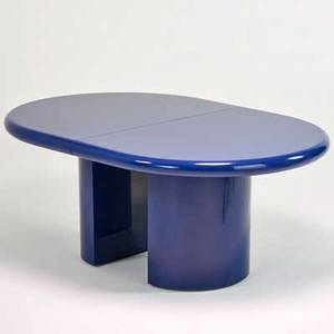 Karl springer karl springer ltd extension dining table new york 1980s enameled wood unmarked closed 30 x 72 x 48 with two 18 leaves