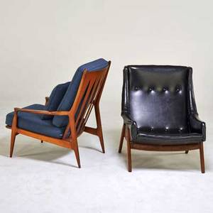 Milo baughman thayer coggin etc milo baughman for thayer coggin lounge chair high point nc 1970s together with tallback lounge chair walnut upholstery vinyl unmarked milo baughman 37