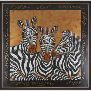 Luis sottil mexican 20th c two giclee prints on canvas zebras signed and numbered 830 in print  panda signed and numbered ap in print both framed larger 72 x 78