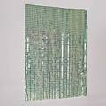 Style of paco rabanne space curtain style hanging screen 1970s metallic plastic squares joined by plastic clips 73 12 x 84