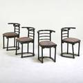 Josef hoffmannthonet four cafesbquo chairs austria 1920s painted beech sprung seats upholstery unmarked 28 x 18 14 x 19