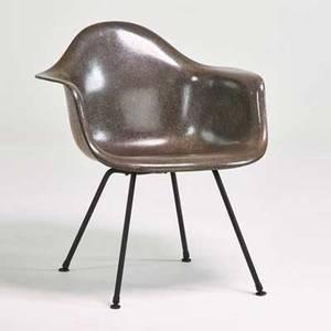 Charles and ray eames herman miller fiberglass shell armchair zeeland mi 1940s molded fiberglass and enameled steel unmarked 28 x 25 x 24
