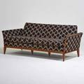 Style of adrian pearsall two seat sofa usa 1960s walnut upholstery unmarked 29 x 71 x 31
