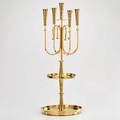 Tommi parzinger five light candelabrum usa 1950s polished brass unmarked 23 12 x 8 12 dia