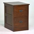Stickley by e j audi contemporary arts and crafts two drawer file cabinet manlius ny 1990s quartersawn oak patinated metal branded mark and metal tag 31 14 x 21 15 x 28