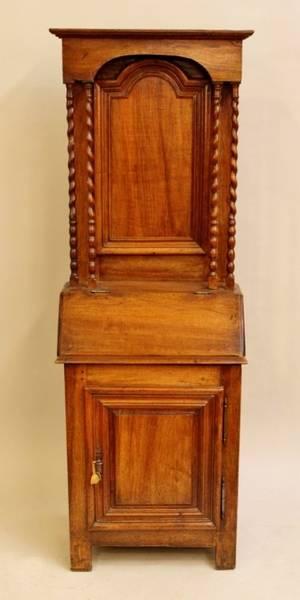 L 19th C Walnut Cabinet