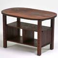 Michigan chair co oval book table grand rapids mi ca 1915 quartersawn oak unmarked 28 12 x 43 12 x 28