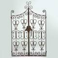 Style of samuel yellin pair of wrought iron gates california 1930s unmarked each 74 x 24 12