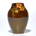 Adeliza drake sehon rookwood standard glaze vase decorated with dogwood flowers cincinnati oh 1902 flame markii604eartists cipher 6 x 4 dia