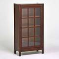 Arts and crafts single door bookcase usa ca 1915 quartersawn oak glass unmarked 48 x 25 12 x 12 12