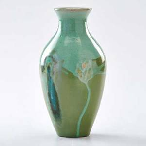 Paul revere pottery cabinet vase with drip glaze boston ma 1938 marked prp438 8 x 3 34 dia