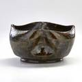 George ohr vessel with dimpled body and melt fissures biloxi ms ca 18971900 impressed ge ohrbiloxi miss 2 14 x 4 14 dia