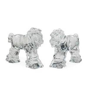 Pair of baccarat horses attr molded crystal france 20th c 7 14 x 9 14 provenance estate of a private collector new york