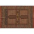 Turkish oriental area rug all over geometric design on red ground 20th c 68 x 45 12
