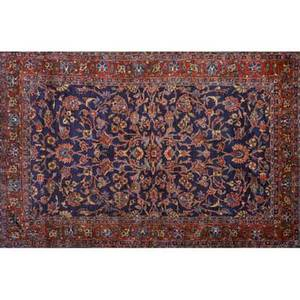 Ferraghan sarouk area rug red floral design on red ground early 20th c 51 x 78