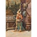 Giuseppe brugo italian 19th20th c watercolor on paper of swordsman framed signed 20 12 x 14