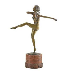 Franz fiedler austrian 18851956 figure of a dancer 1931 signed 15 provenance estate of a private collector new york