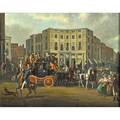 James pollard british 17921867 oil on canvas of regent circus coaching scene 1822 framed signed and dated 31 12 x 40