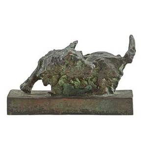Edith b parsons american 18781956 bronze sculpture of a scottish terrier verdigris patination signed eb parsons 4 x 7 x 3 12