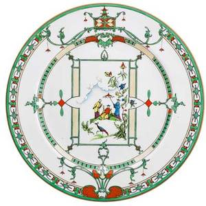 Royal worcester porcelain plates set of twelve chinoiserie design with figural and landscape motif on white ground early 20th c marked royal worcester england 10 14 dia