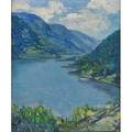 Elmira kempton american 18921971 oil on canvas lake george ny framed signed and titled 24 x 20