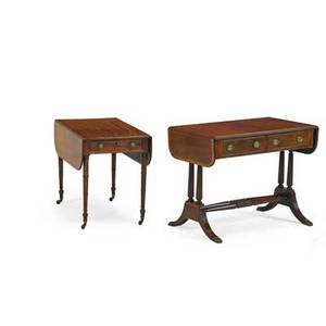 Two dropleaf tables pembroke table together with a sofa table american 19th20th c sofa table 30 14 x 40 12 x 21