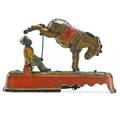 Mechanical bank always did spise a mule american 19th c stamped pat apr 22 1879  pend 6 34 x 9 34 x 3