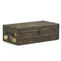 Louis vuitton steamer trunk fitted interior with removable tray france early 20th c serial number 740949 13 x 39 34 x 21