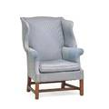 Chippendale wing chair mahogany frame upholstered seat and back stretcher base ca 1800 41 x 30 12 x 28 provenance the stokes family collection princeton
