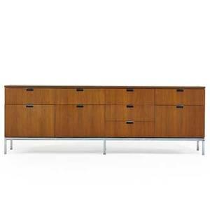 Florence knoll b 1917 knoll associates cabinet usa 1960s walnut chromed steel unmarked 25 12 x 75 x 18