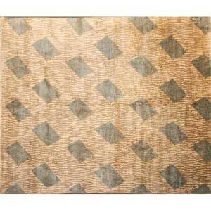 Modern contemporary handknotted wool rug with branches and geometric pattern india 8 x 10
