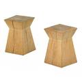 Christian liaigre b 1943 holly hunt pair of oak side tables new york 1990s unmarked 17 14 x 11 sq