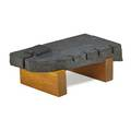 Scott cornelius design studio willow coffee table new york 2000s carved granite fir unmarked 15 x 42 12 x 23