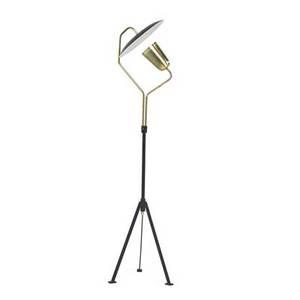 Bergboms floor lamp sweden 1960s enameled metal brass manufacturer label 59 12 x 14 x 13 12
