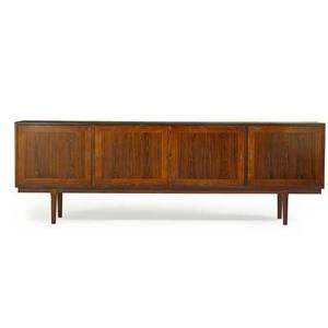 Arne vodder attr 1926  2009 vamo sonderborg rosewood cabinet denmark 1950s branded 33 x 98 12 x 19