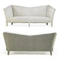 Donghia pair of sofas usaitaly 1990s chenille unmarked 38 x 90 x 40