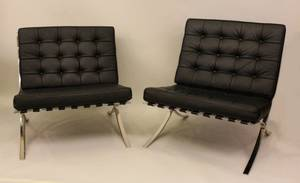 Barcelona Chairs in the Style of Mies Van Der Rohe
