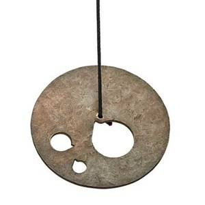 Harry bertoia 1915  1978 suspended sound gong hbb220 pennsylvania 1970s hammered and pierced silicone bronze 5 dia complete with certificate of authenticity from val bertoia