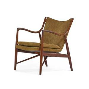Finn juhl 1912  1989 niels vodder nv45 chair denmark 1960s sculpted teak leather unmarked 32 12 x 27 12 x 30 provenance imported in the early 1960s by the current and sole owner