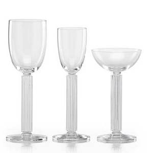 Walter dorwin teague 1883  1960 edwin w fuerst 1903  1988 libbey glass co thirty one glasses in the embassy pattern toledo oh des 1939 eight champagne coupes ten wine glasses thirtee