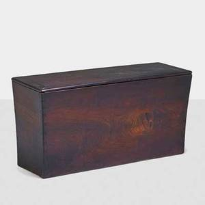 Wharton esherick 1887  1970 rare blanket chest paoli pa 1946 figured walnut poplar leather brass carved signature and date 23 34 48 x 16 14 provenance built for the home of bess hu