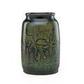 Viktor schreckengost 1906  2008 glazed stoneware vase incised with underwater scene cleveland ohio 1929 incised mack from vic 1929 10 34 x 6 34 note mack holland was a friend of schre