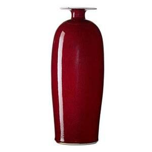 Brother thomas bezanson 1929  2007 tall porcelain vase with wide rim copper red glaze weston vermont signed benedictine monks weston vt 12 12 x 4 34