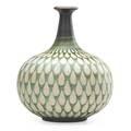 Harrison mcintosh b1914 glazed stoneware bottleshaped vase claremont ca signed hm with paper label 11 12 x 9 14