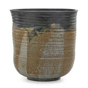 Toshiko takaezu 1922  2011 large stoneware vessel clinton nj signed tt 12 x 12