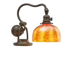 Tiffany studios counterbalance desk lamp with damascene shade new york 1900s patinated bronze favrile glass single socket base stamped tiffany studios new york 416 as shown 12 12 x 12 sha